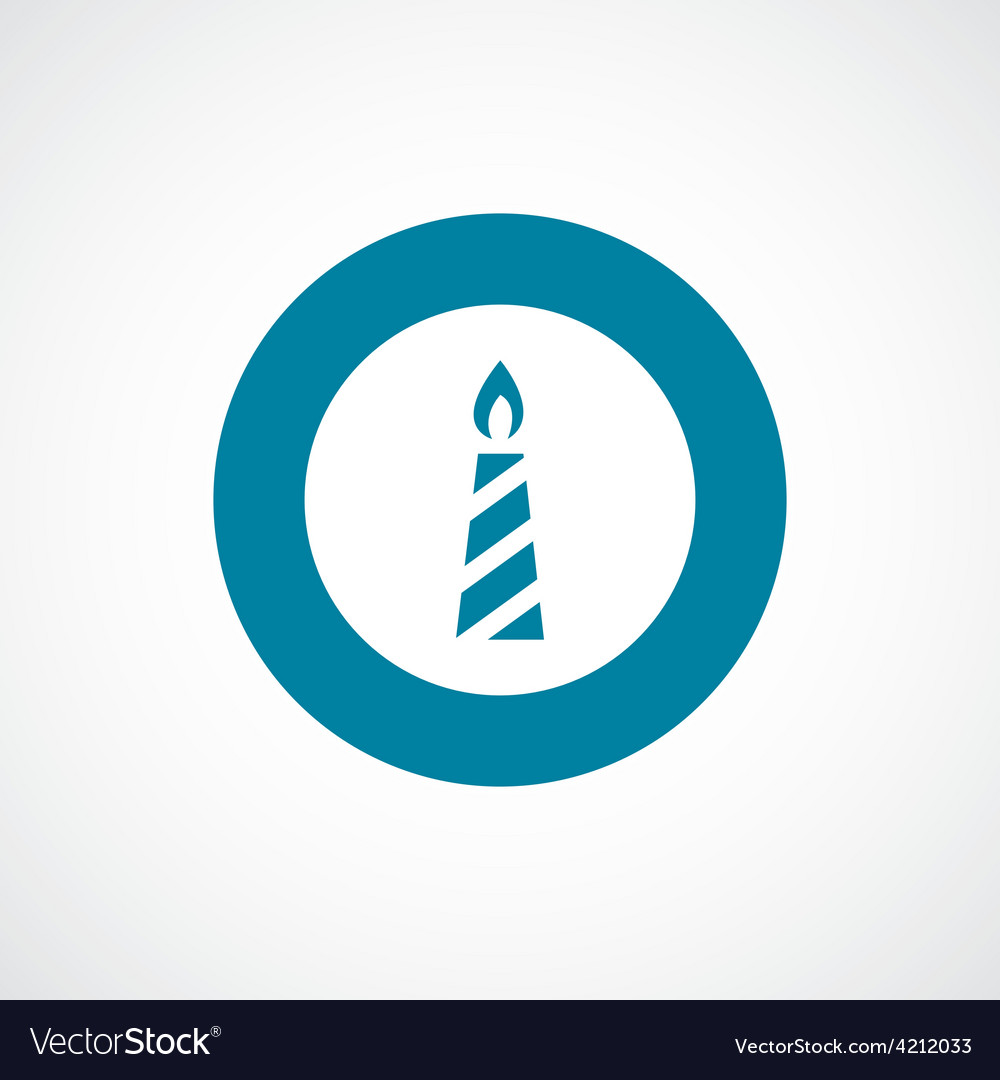 Candle icon bold blue circle border vector | Price: 1 Credit (USD $1)
