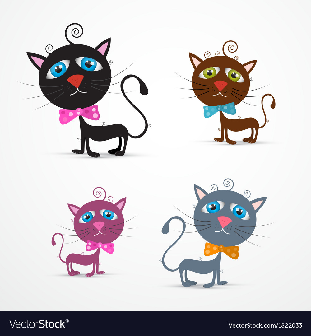 Cat set vector | Price: 1 Credit (USD $1)