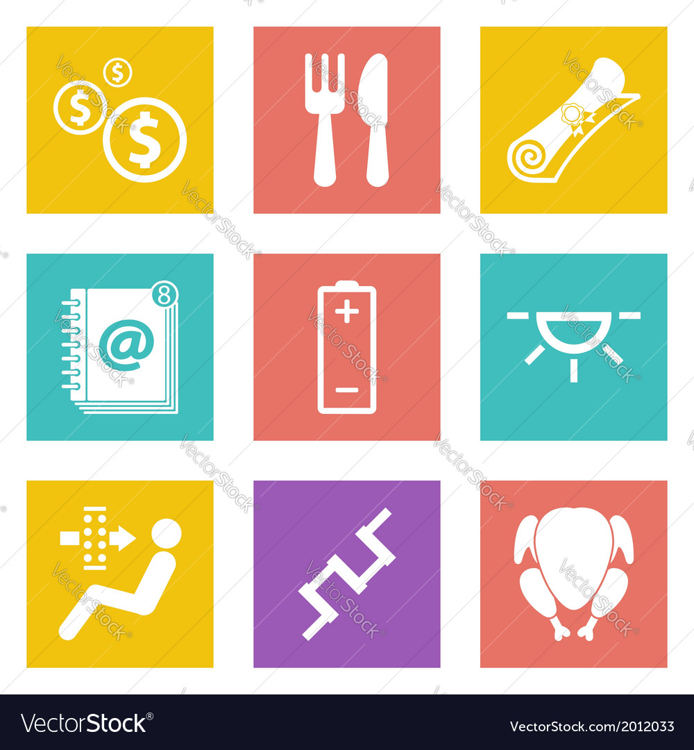 Icons for web design set 16 vector | Price: 1 Credit (USD $1)