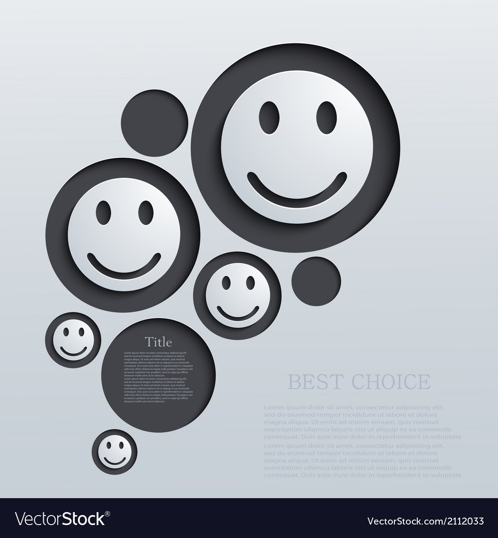 Modern emotions background vector | Price: 1 Credit (USD $1)