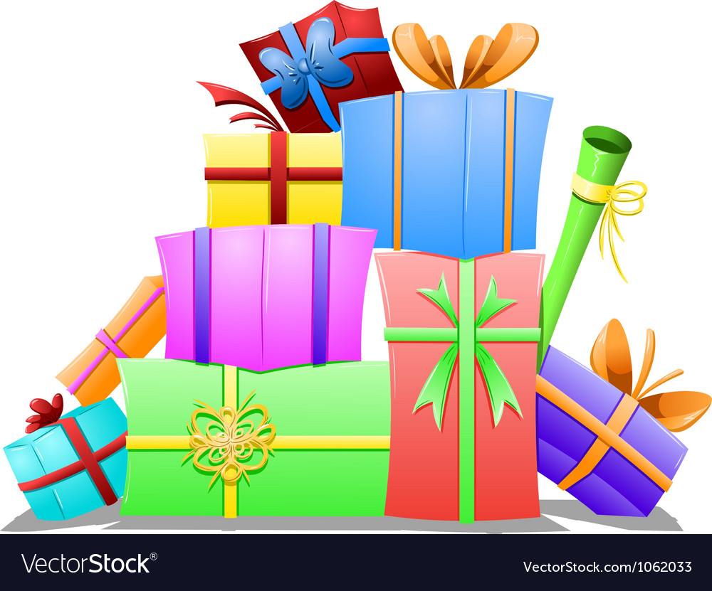 Pile of gift boxes vector | Price: 1 Credit (USD $1)
