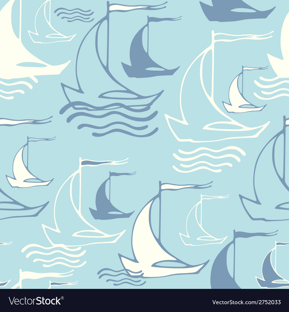 Seamless pattern with decorative sailing ships on vector   Price: 1 Credit (USD $1)