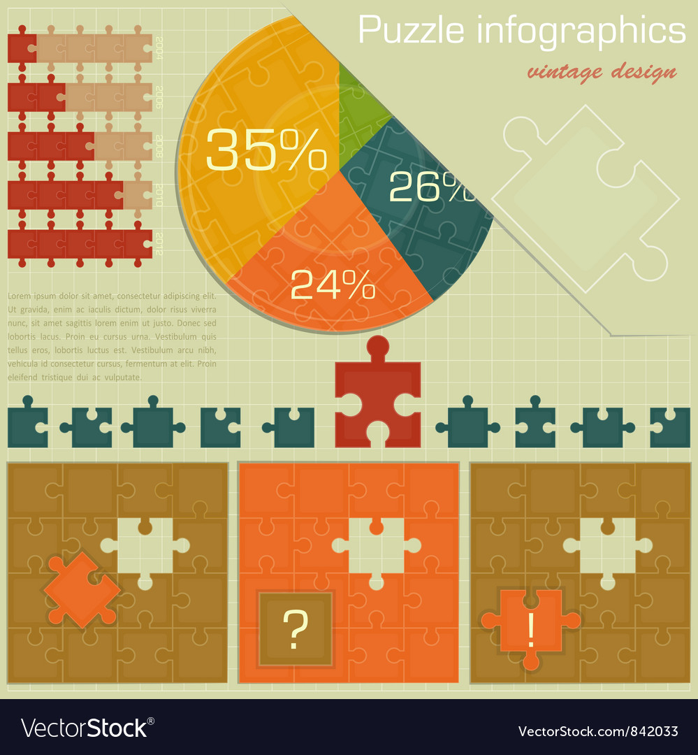Vintage infographics set vector | Price: 1 Credit (USD $1)