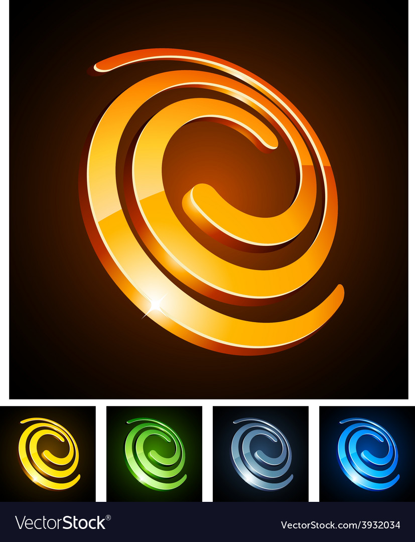 3d swirl emblems vector   Price: 1 Credit (USD $1)