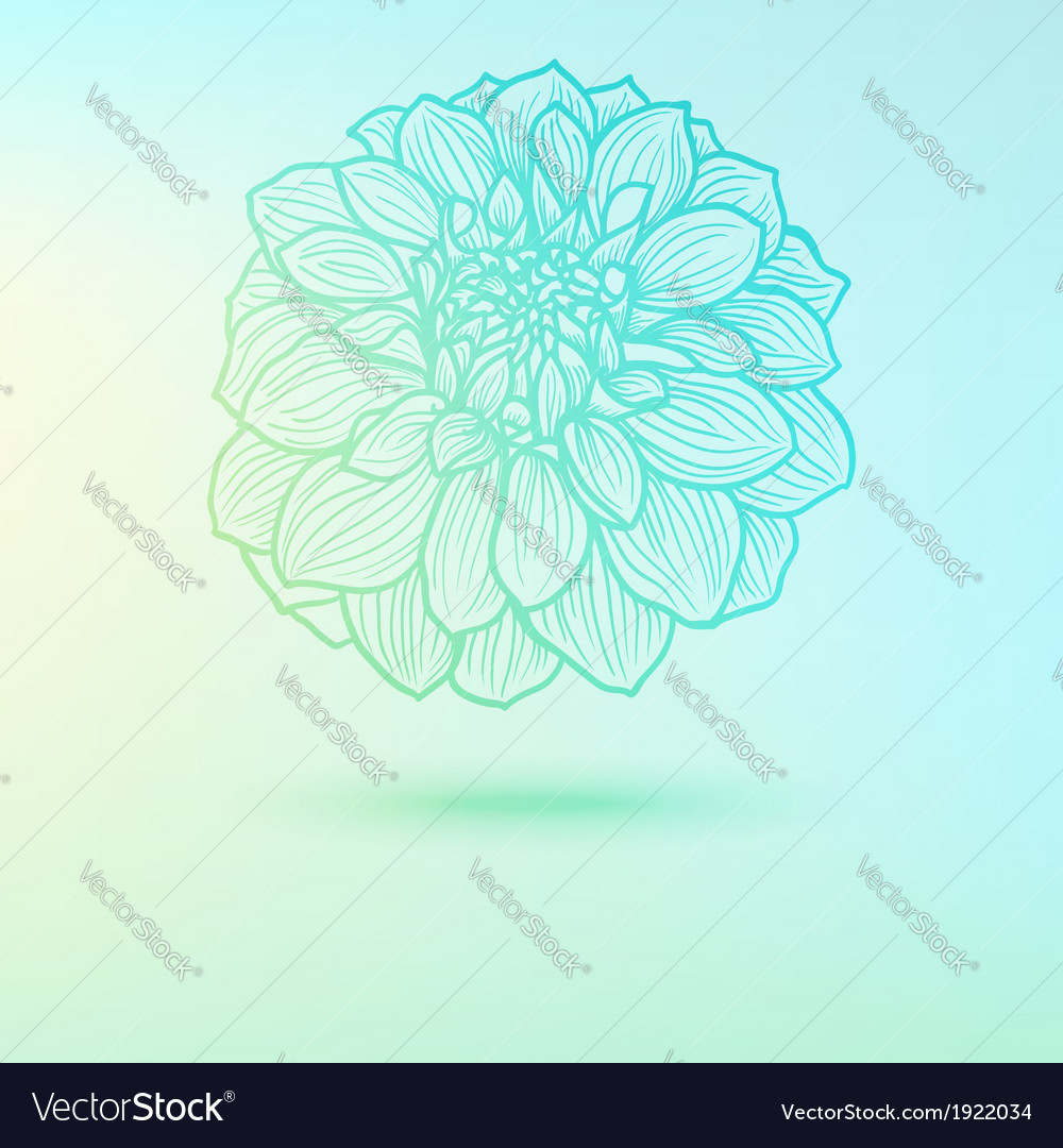 Background with single flower vector | Price: 1 Credit (USD $1)