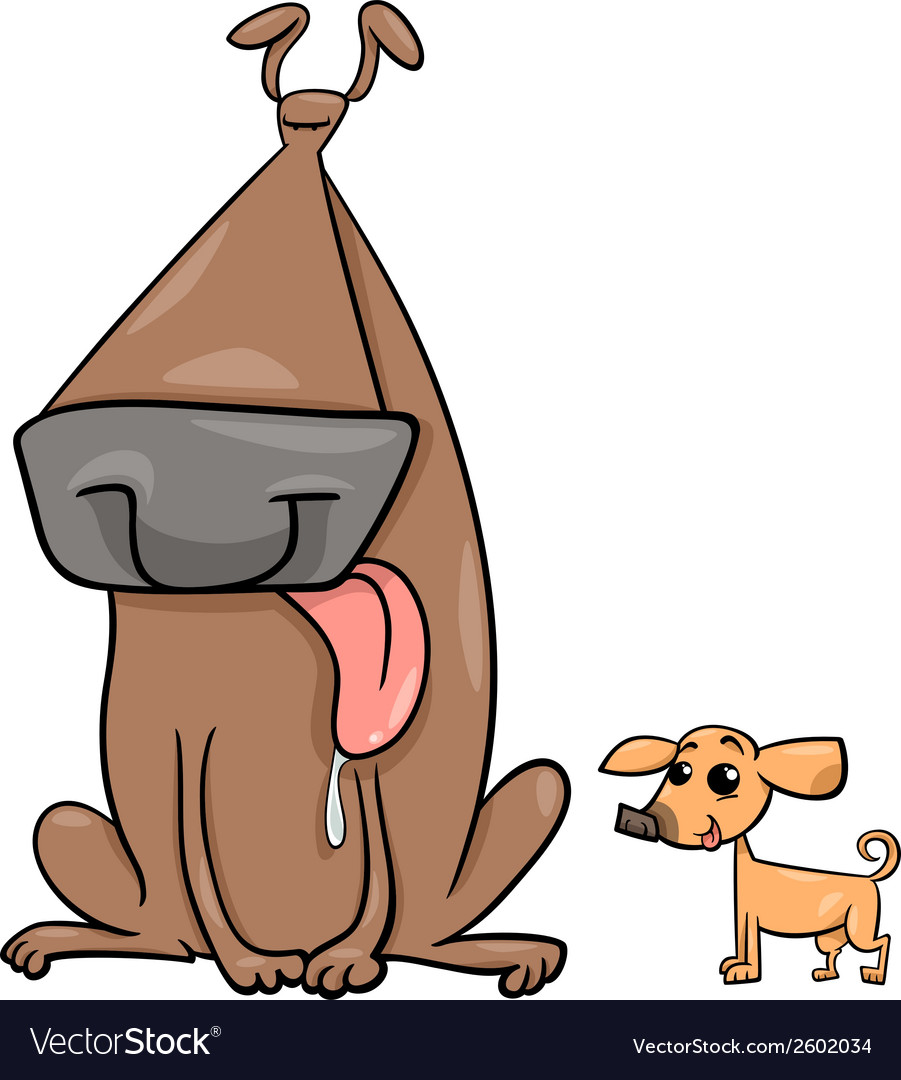 Big and small dogs cartoon vector | Price: 1 Credit (USD $1)