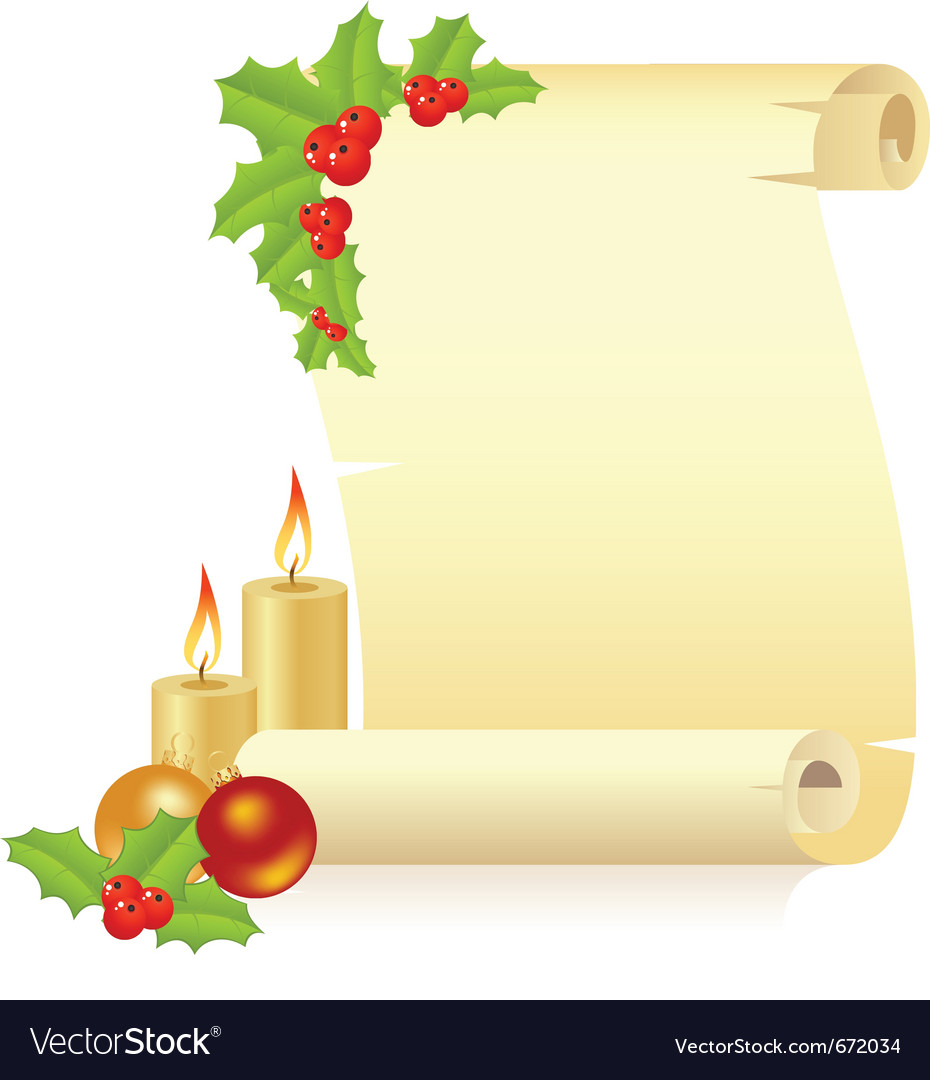 Christmas manuscript vector | Price: 1 Credit (USD $1)
