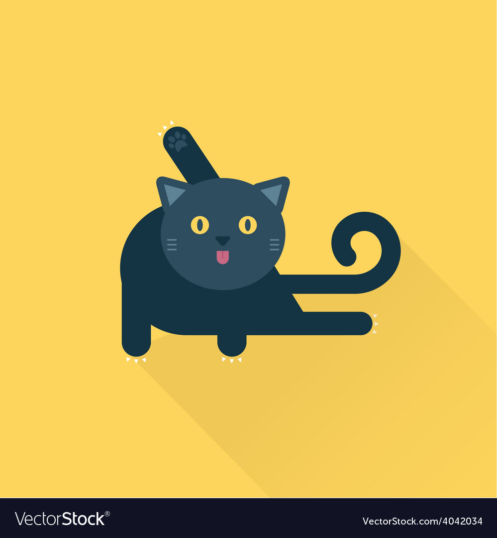 Cleaning cat vector