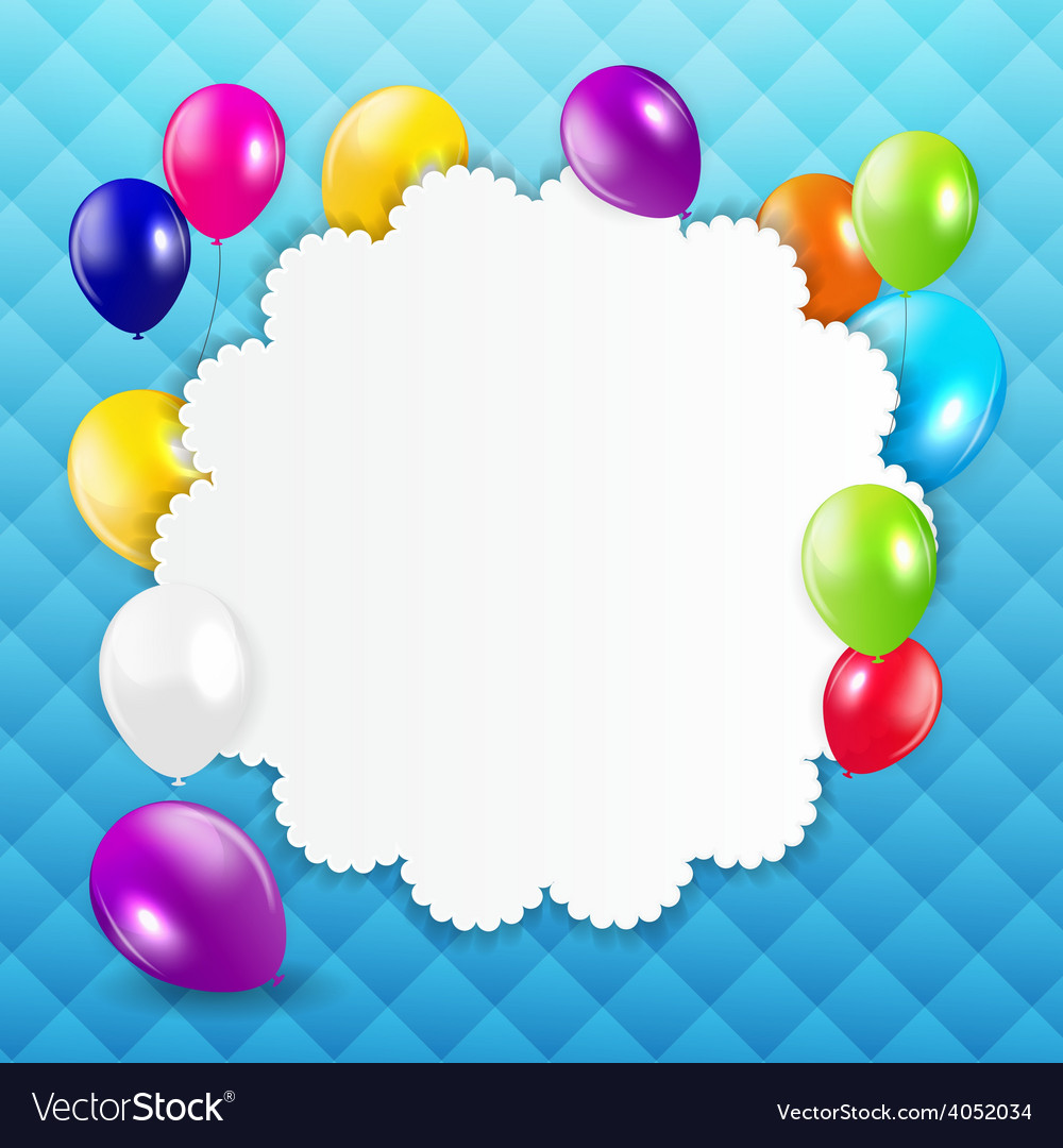 Colored balloons background vector | Price: 1 Credit (USD $1)