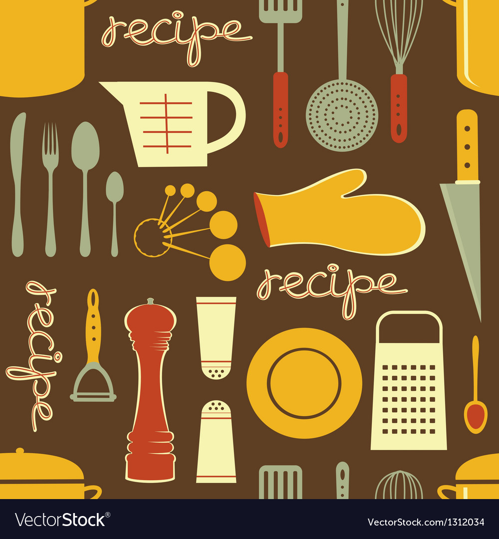 Cooking recipe pattern vector | Price: 1 Credit (USD $1)