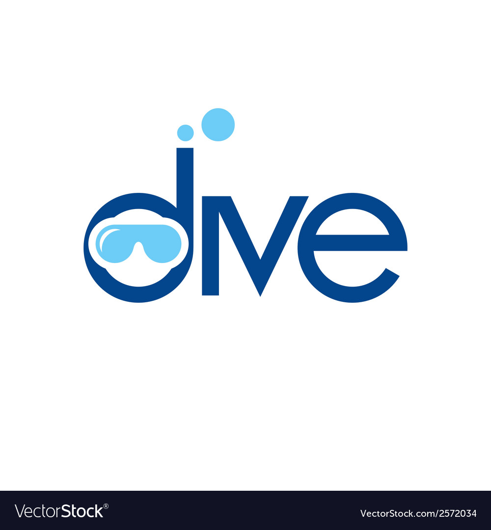 Diving sign vector | Price: 1 Credit (USD $1)