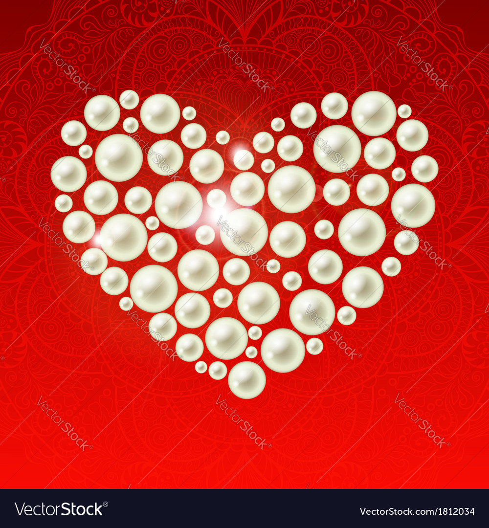 Heart of the pearls vector   Price: 1 Credit (USD $1)