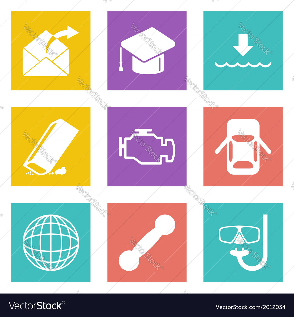 Icons for web design set 17 vector | Price: 1 Credit (USD $1)