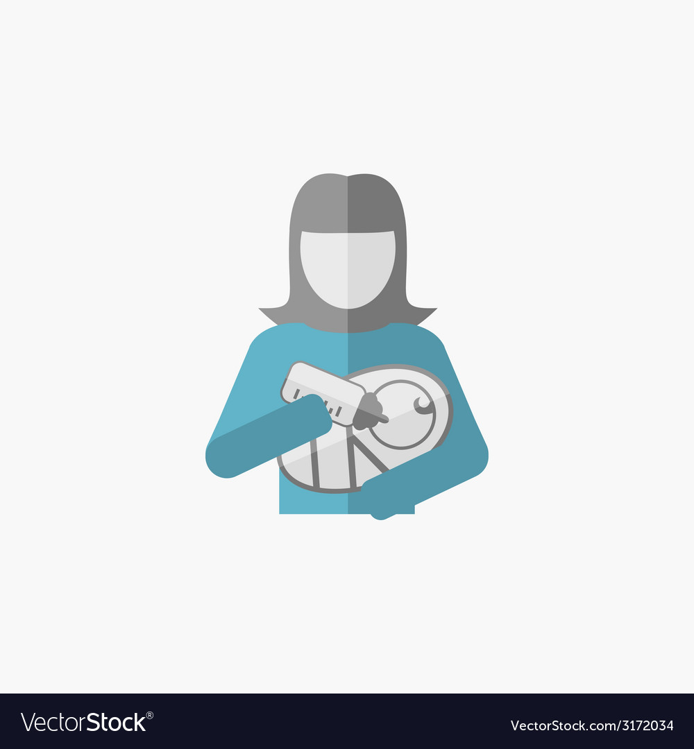 Maternity flat icon vector | Price: 1 Credit (USD $1)