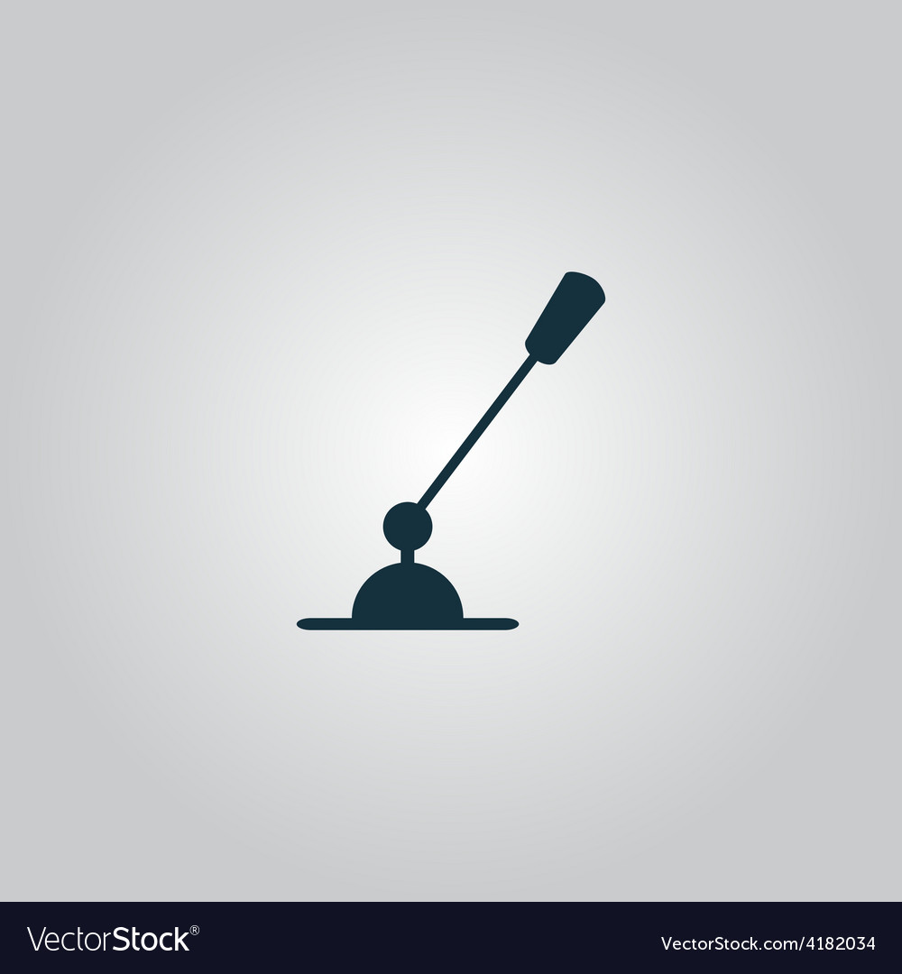 Pc microphone single flat icon vector | Price: 1 Credit (USD $1)