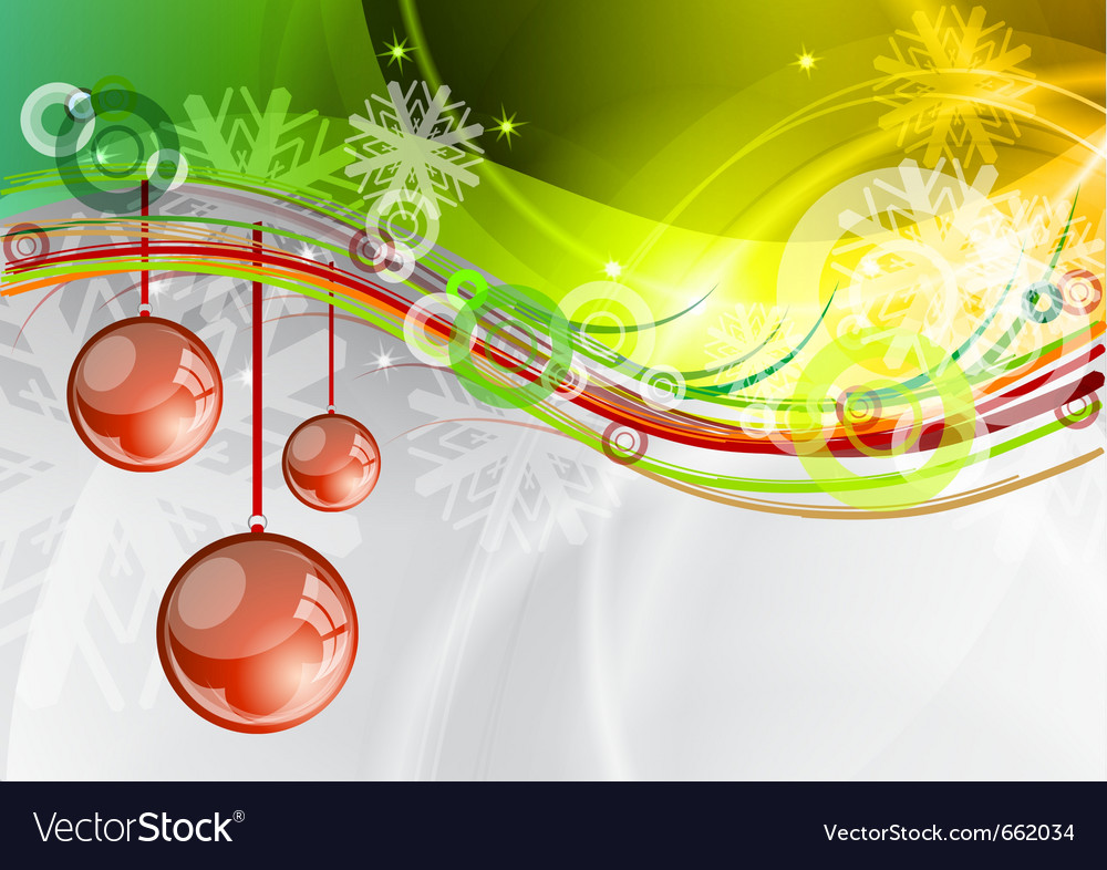 Red balls under the green wave vector | Price: 1 Credit (USD $1)