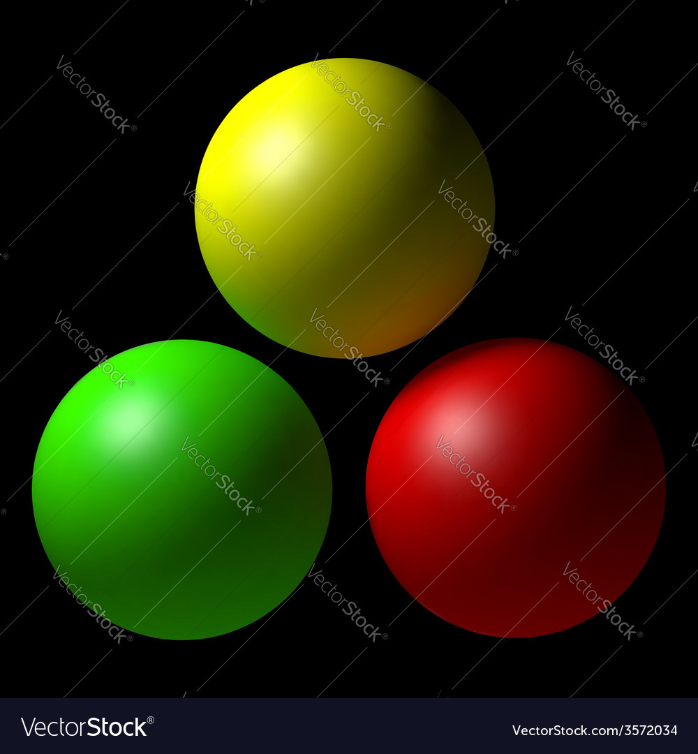 Set of colorful balls vector | Price: 1 Credit (USD $1)