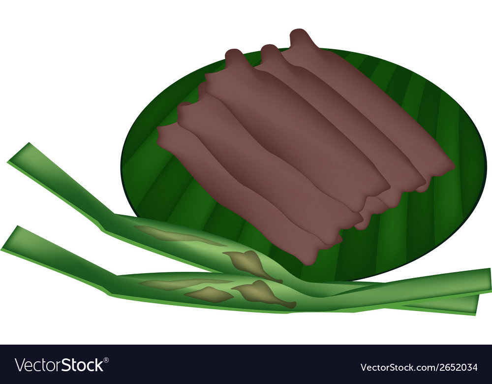 Thai sweetmeat made of flour coconut and sugar vector | Price: 1 Credit (USD $1)