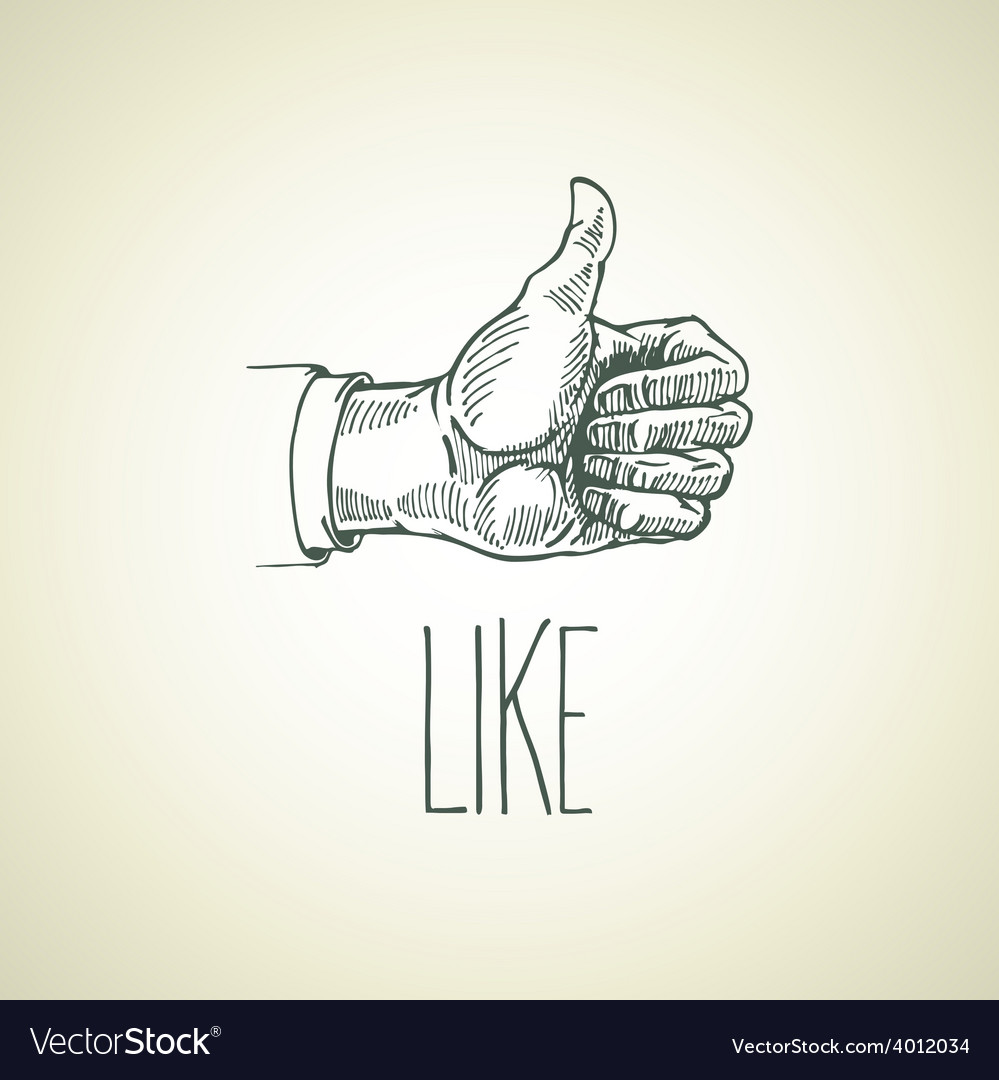 Vintage hand-drawn hand sign like vector | Price: 1 Credit (USD $1)