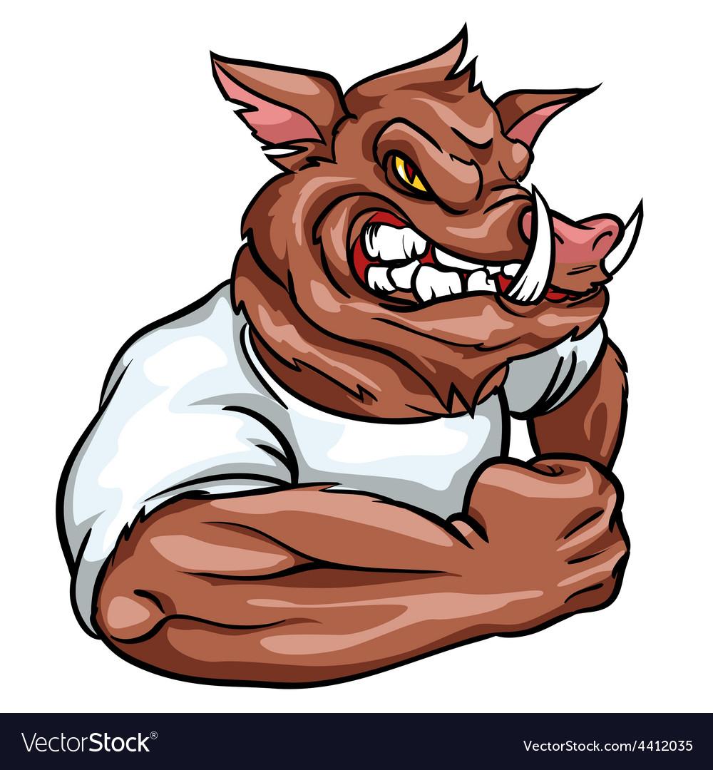 Animal mascot team label design vector | Price: 3 Credit (USD $3)