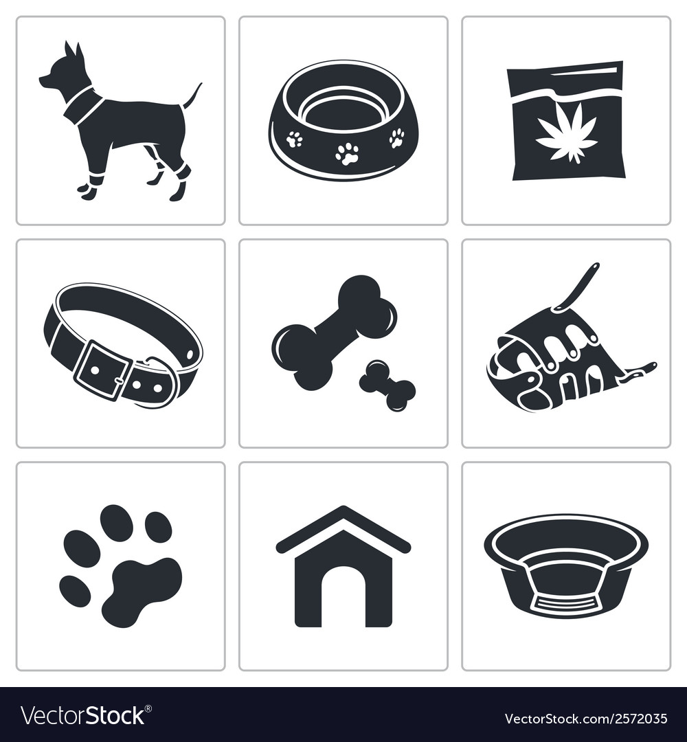 Doggy icon collection vector | Price: 1 Credit (USD $1)