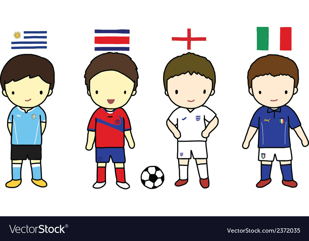 Fifa 2014 football players group d vector | Price: 1 Credit (USD $1)