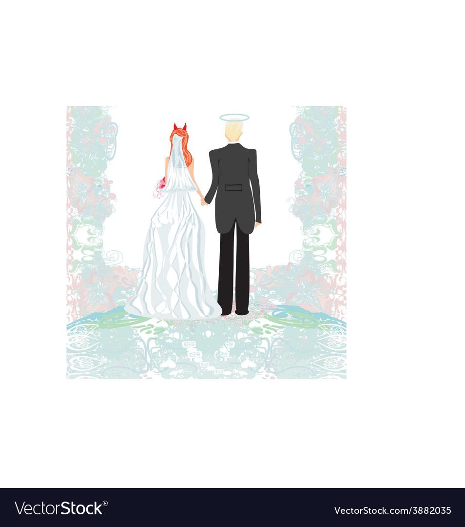 Funny wedding invitation vector | Price: 1 Credit (USD $1)