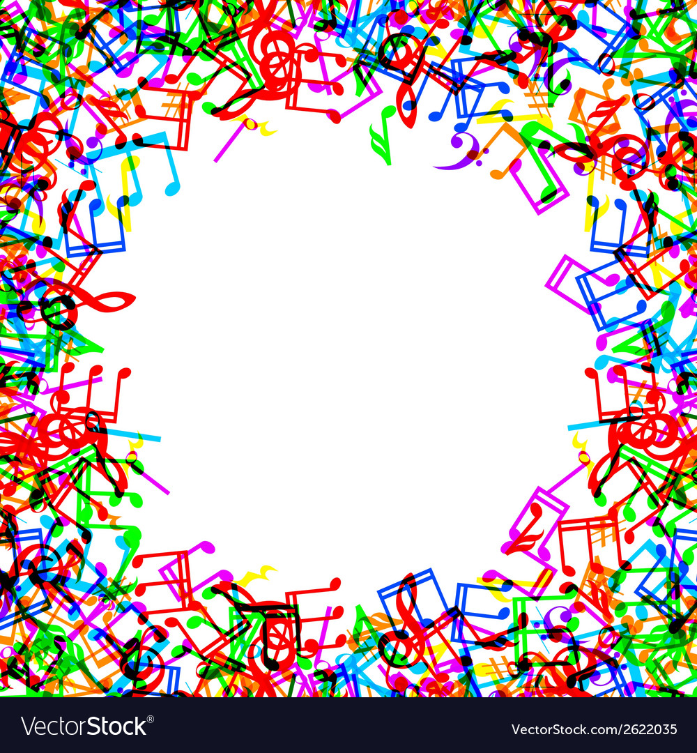 Music notes border frame vector | Price: 1 Credit (USD $1)