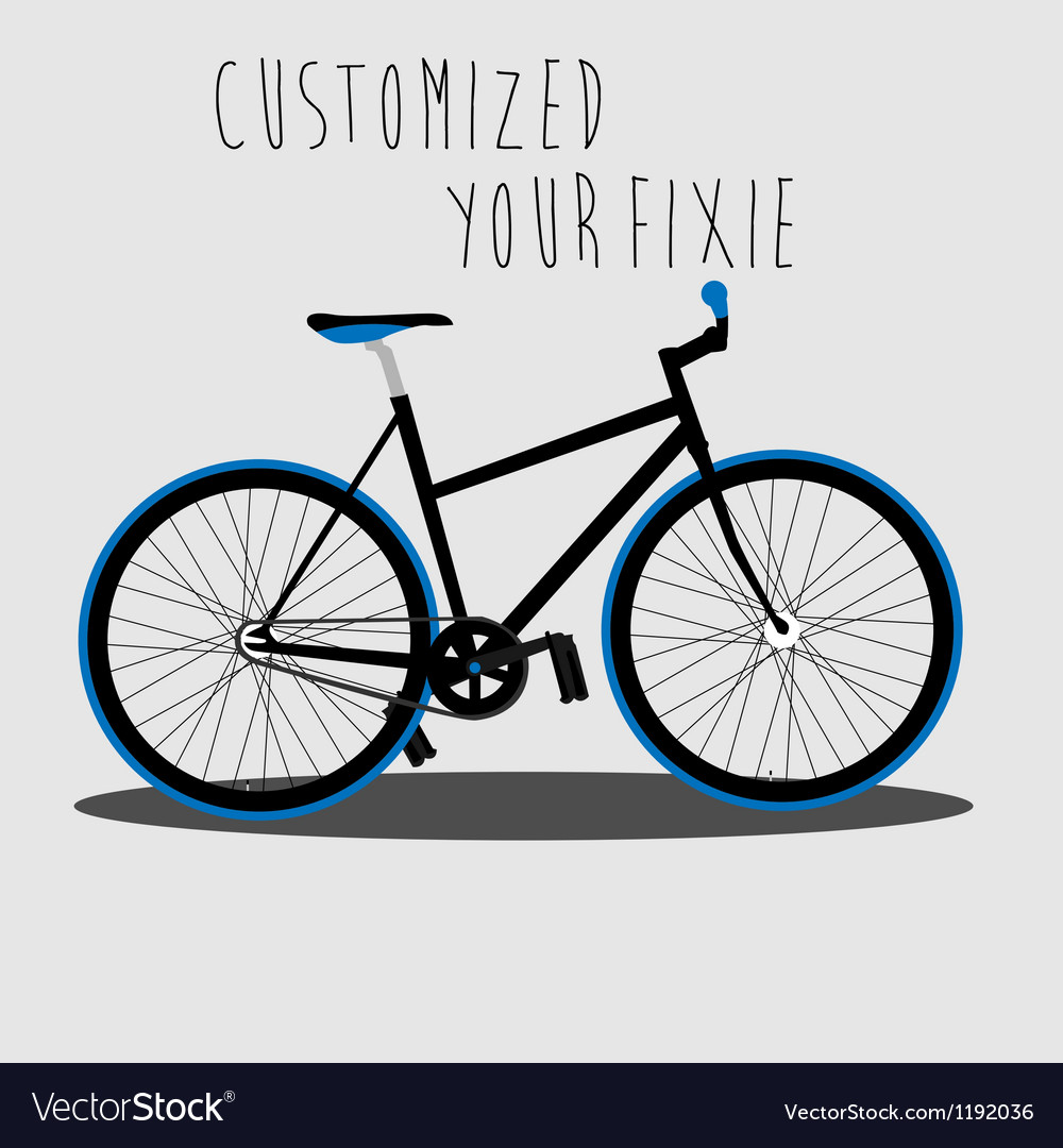 Customized your fixie 2 vector   Price: 1 Credit (USD $1)