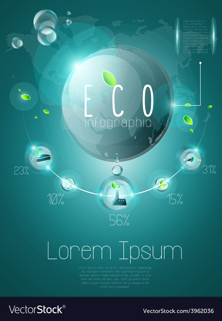 Ecological infographic vector   Price: 3 Credit (USD $3)