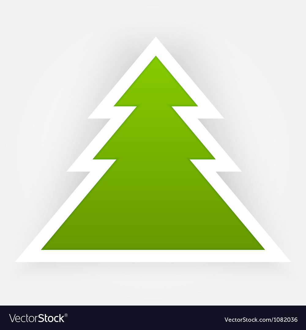 Green paper christmas tree applique vector | Price: 1 Credit (USD $1)
