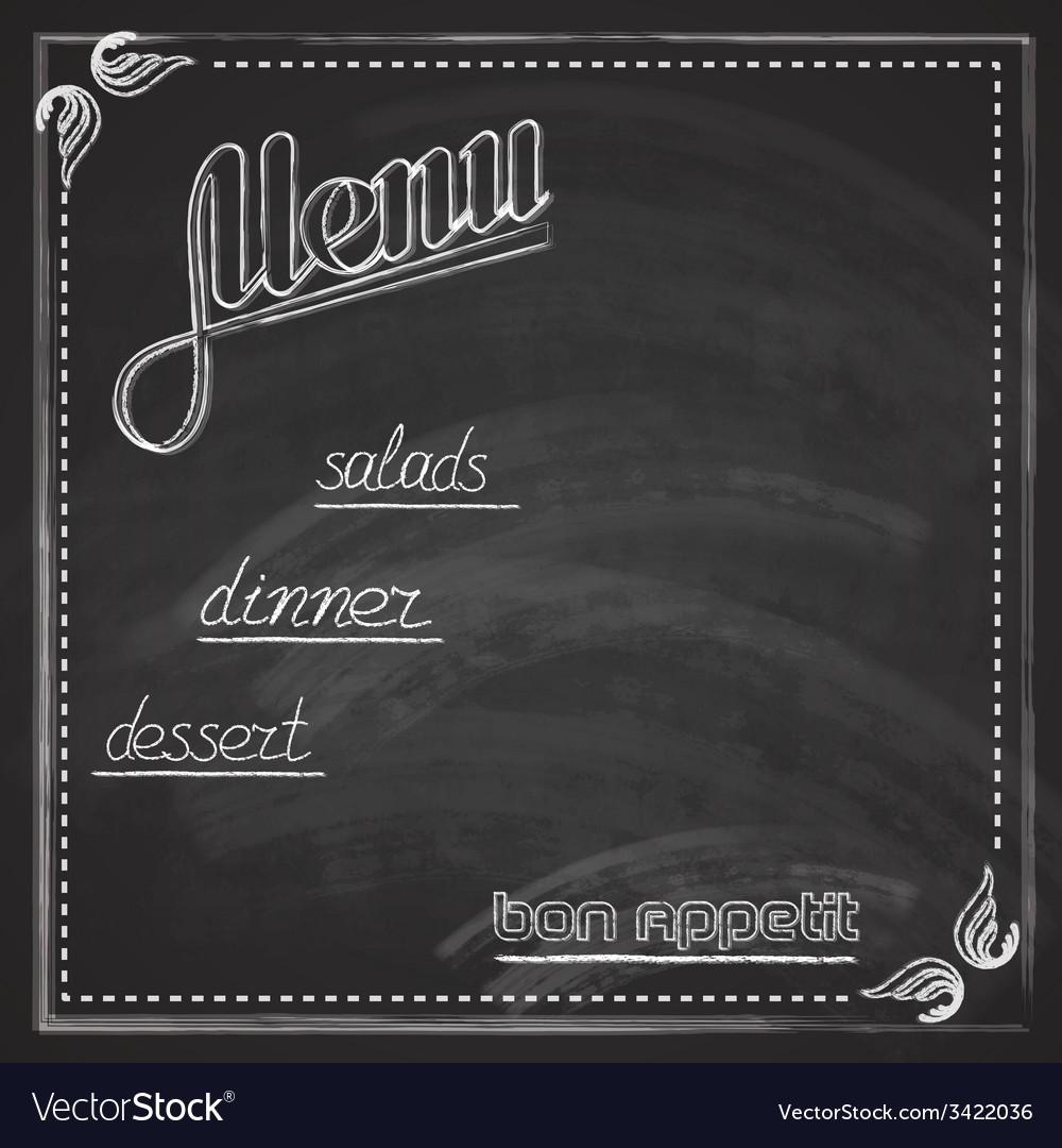 Vintage with chalkboard menu design vector | Price: 1 Credit (USD $1)