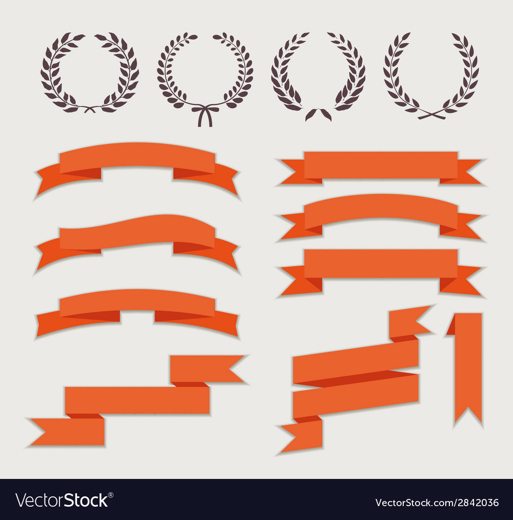 Wreaths and ribbons vector | Price: 1 Credit (USD $1)