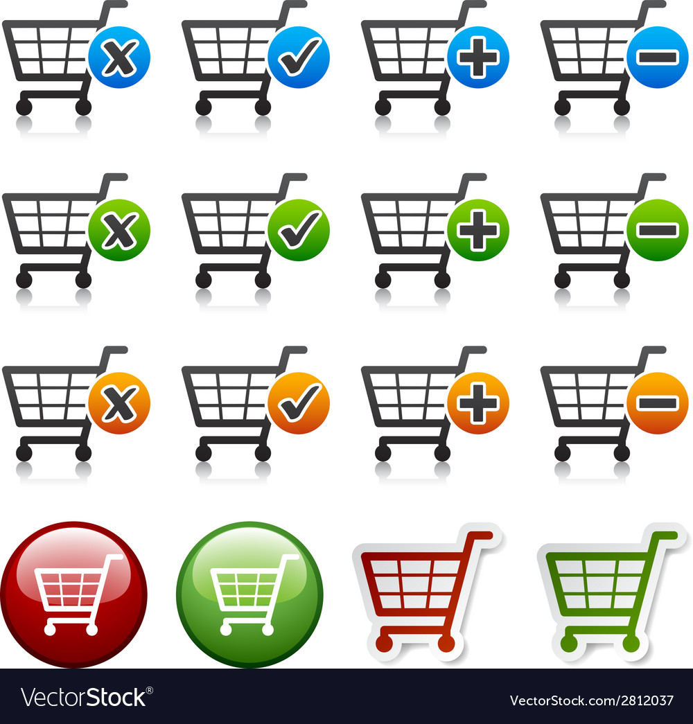 Add delete shopping cart item vector | Price: 1 Credit (USD $1)