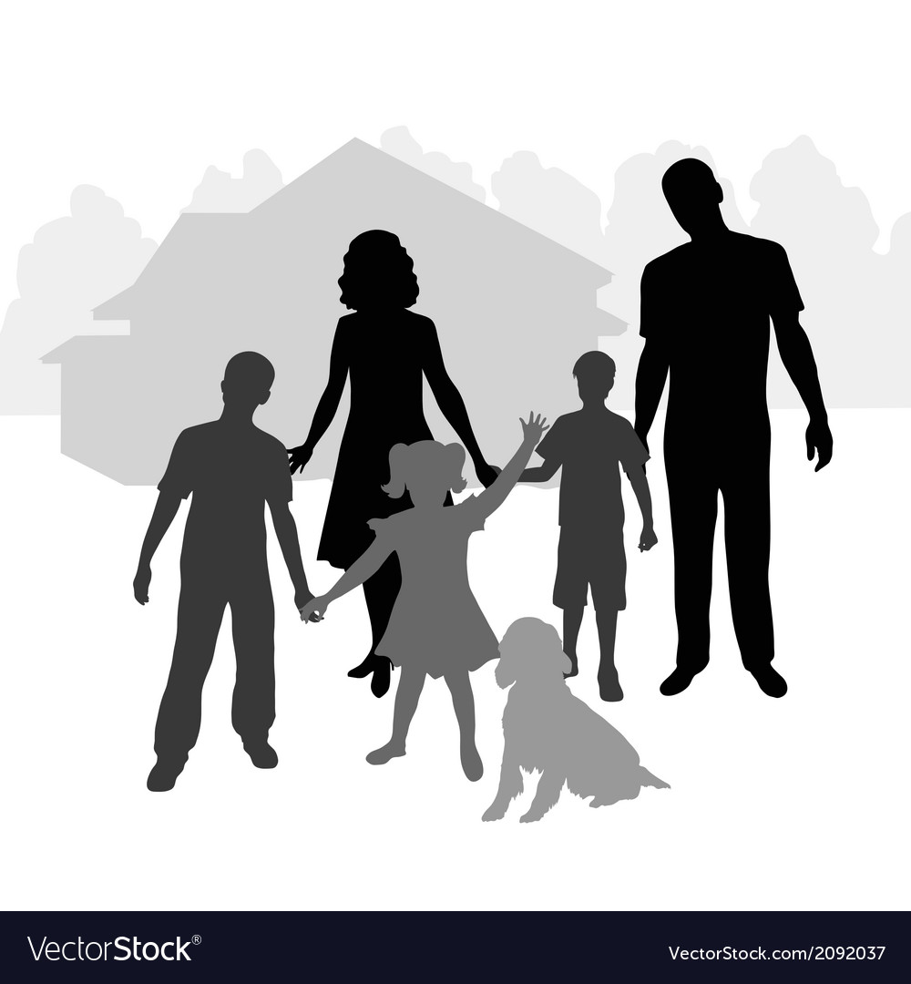 Big family vector | Price: 1 Credit (USD $1)