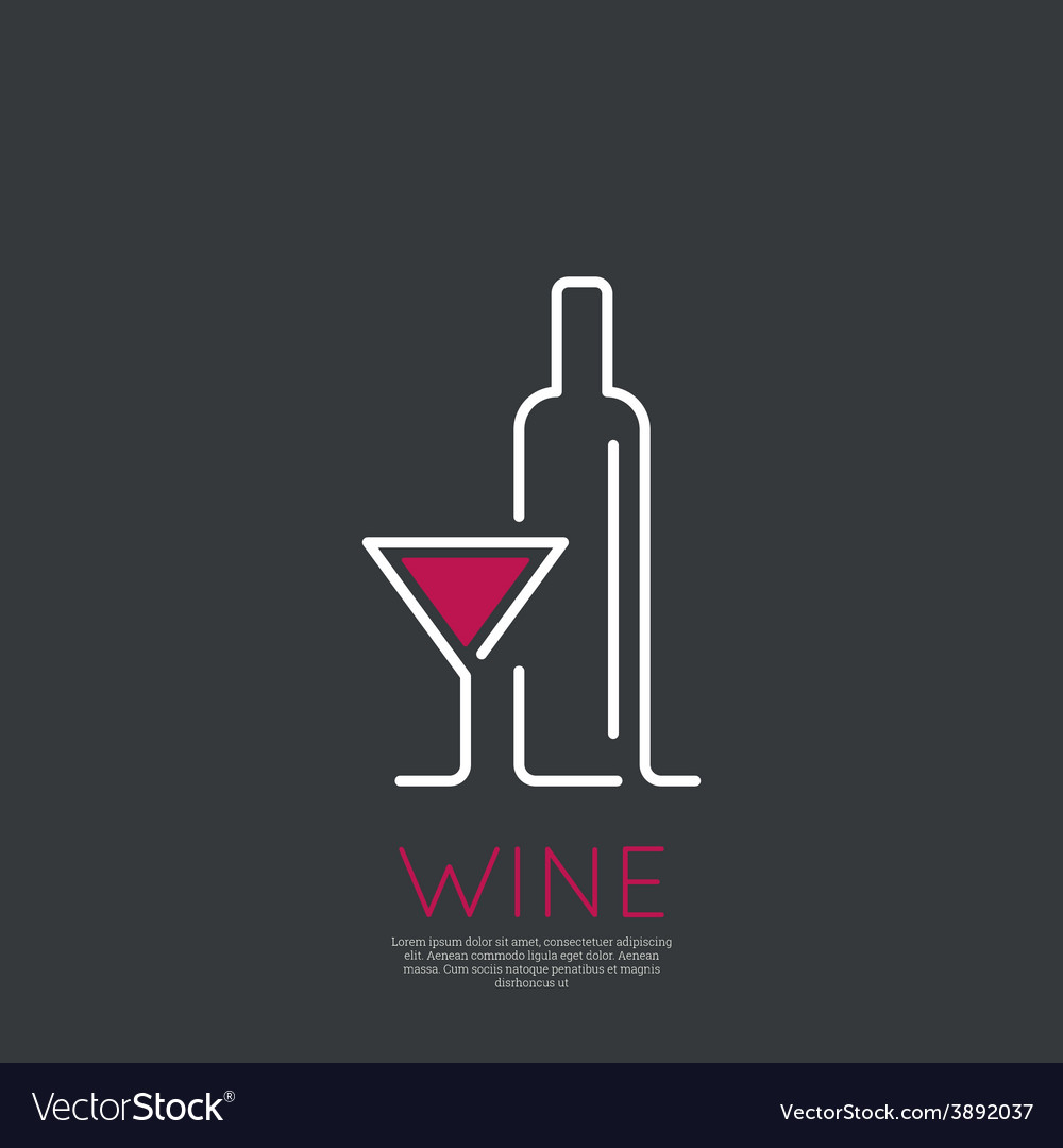 Bottle wine vector   Price: 1 Credit (USD $1)