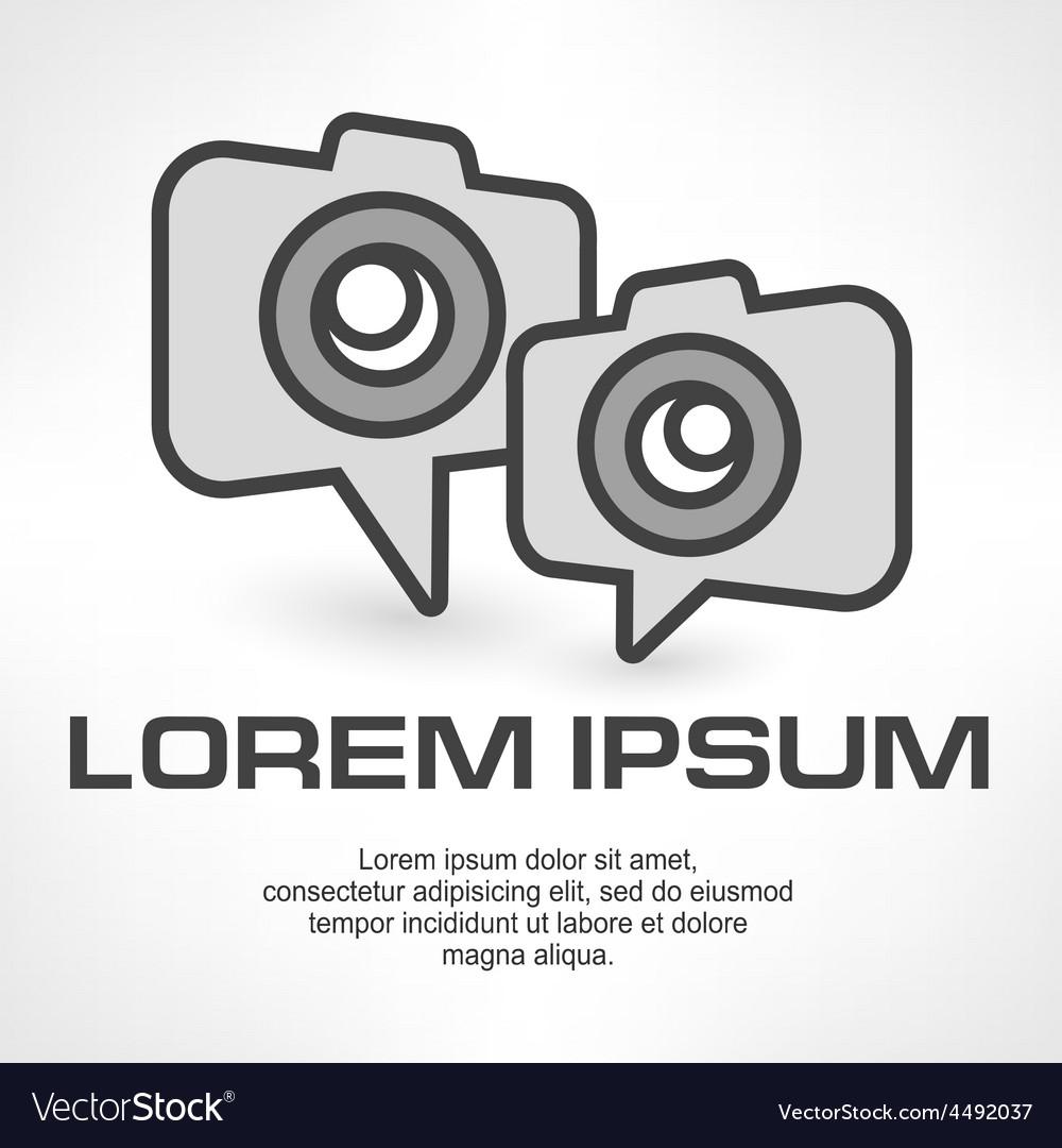Camera icon speech bubble vector   Price: 1 Credit (USD $1)