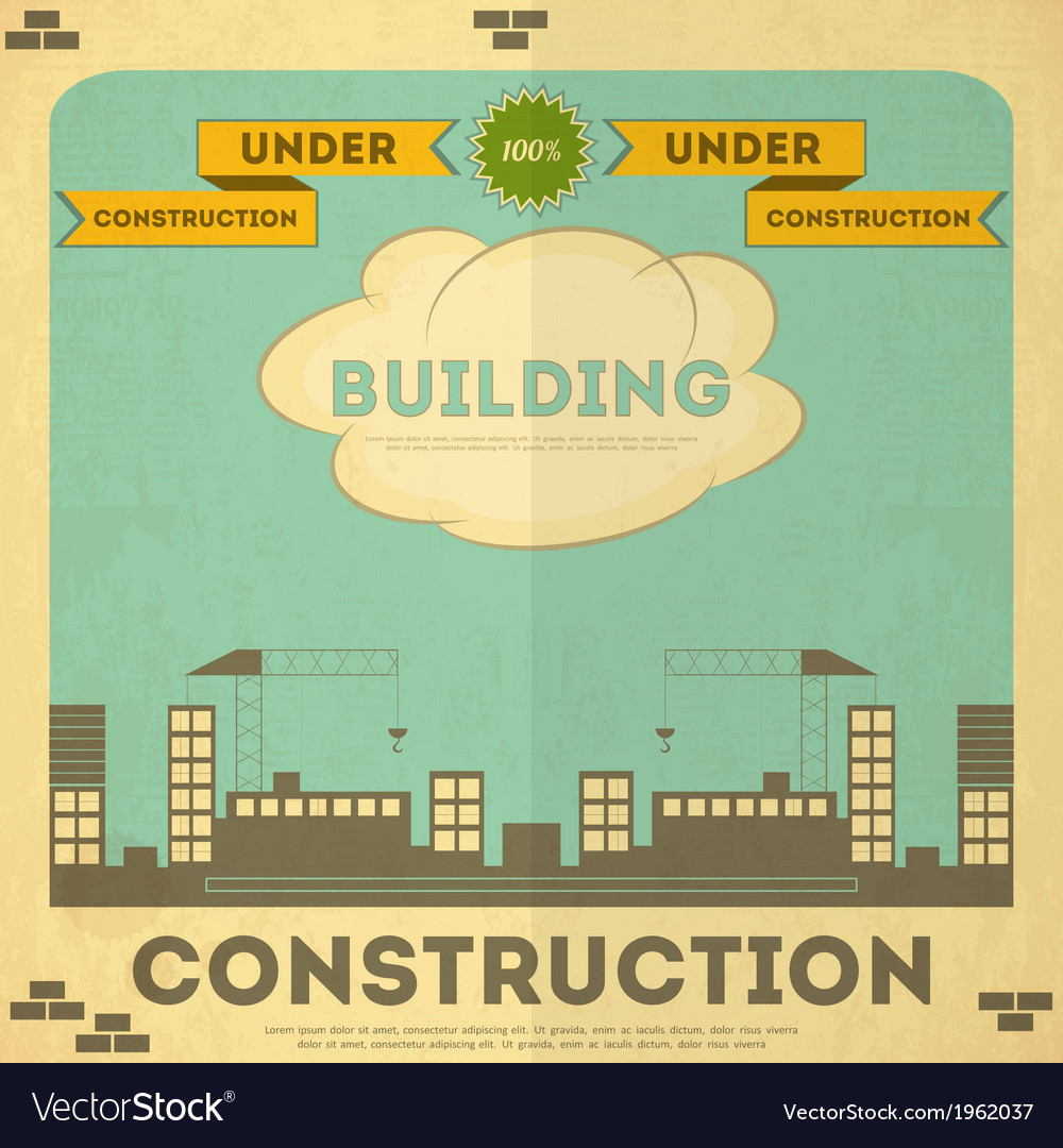 Construction placard vector | Price: 1 Credit (USD $1)