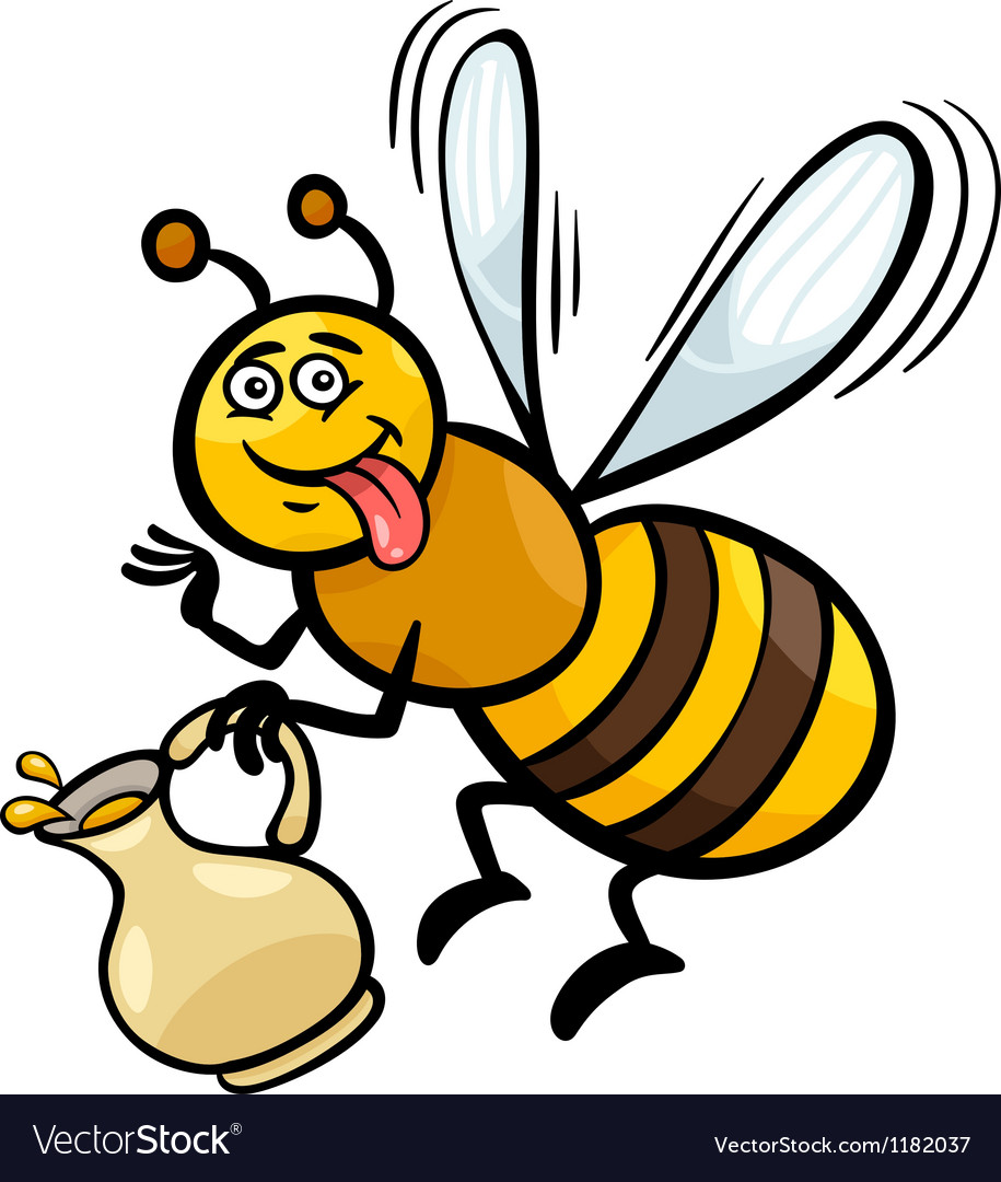 Honey bee insect cartoon vector | Price: 1 Credit (USD $1)