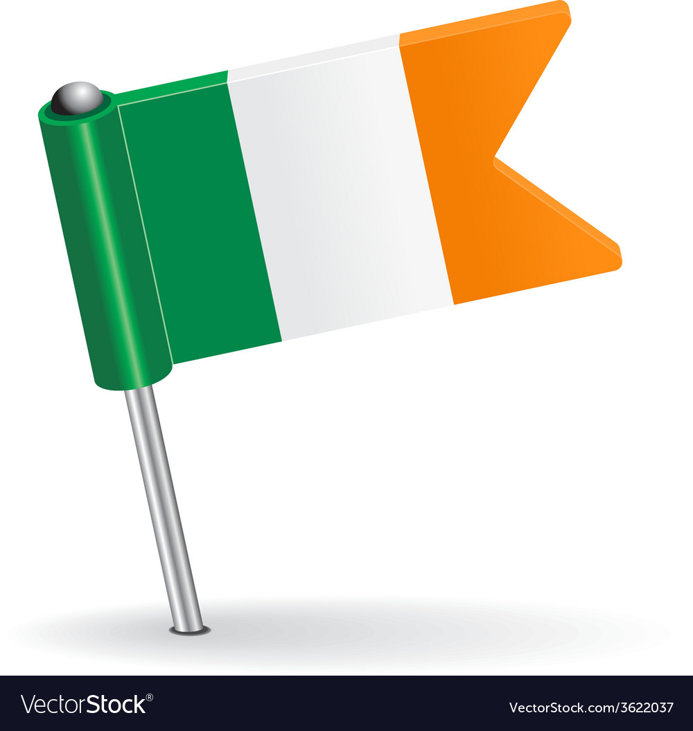 Irish pin icon flag vector