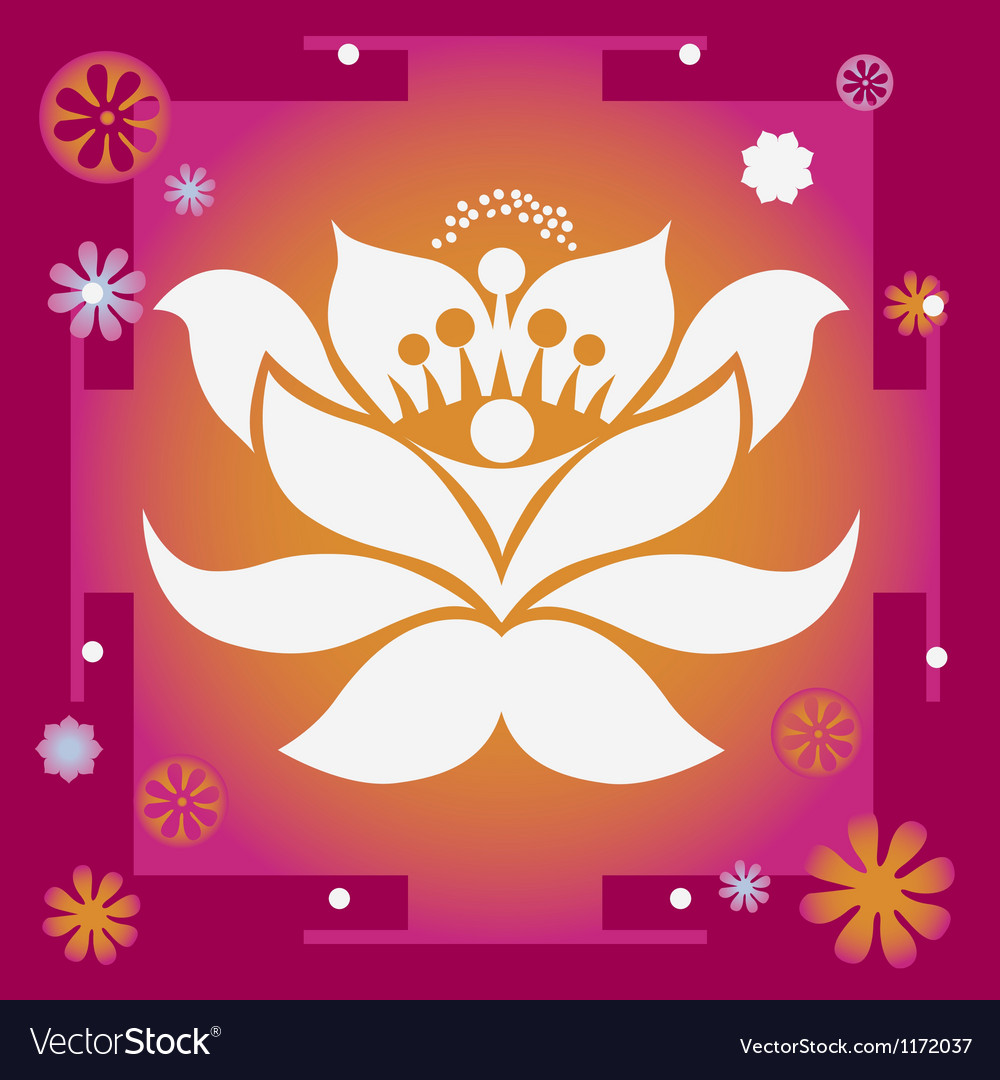 Lotus yantra vector | Price: 1 Credit (USD $1)