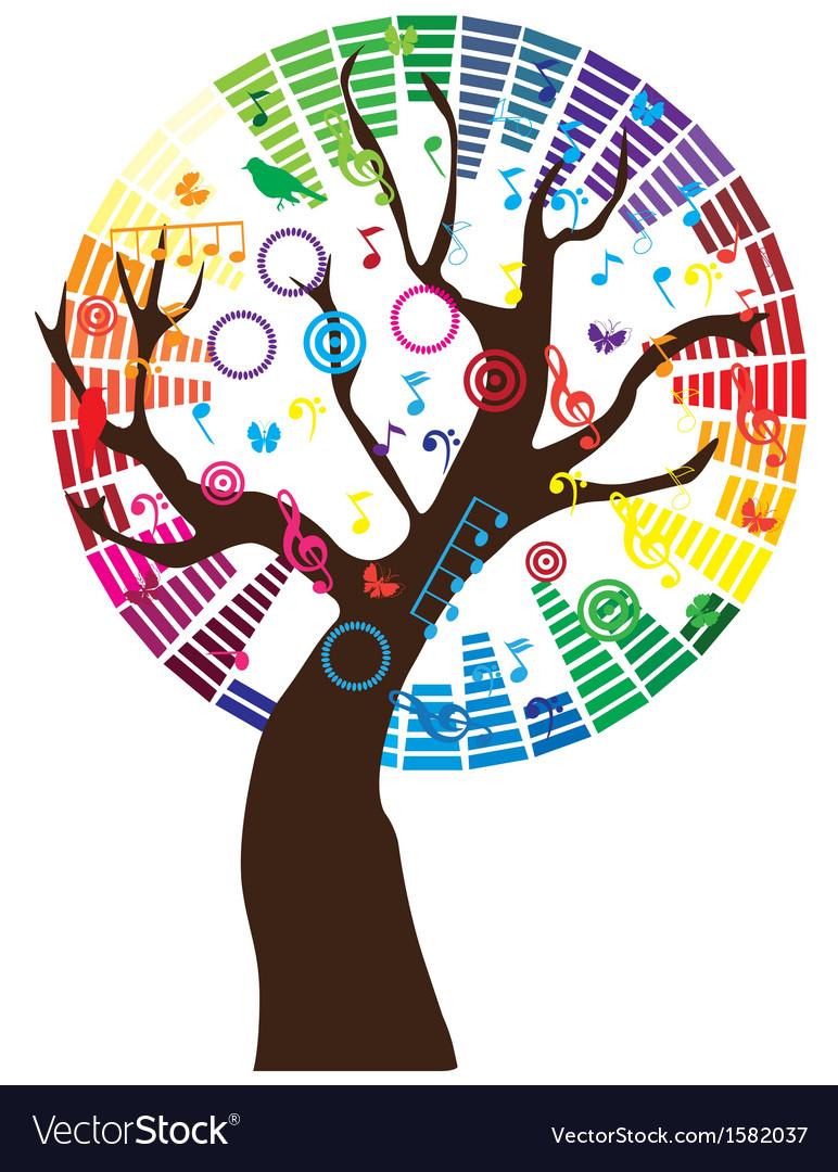 Music tree vector | Price: 1 Credit (USD $1)