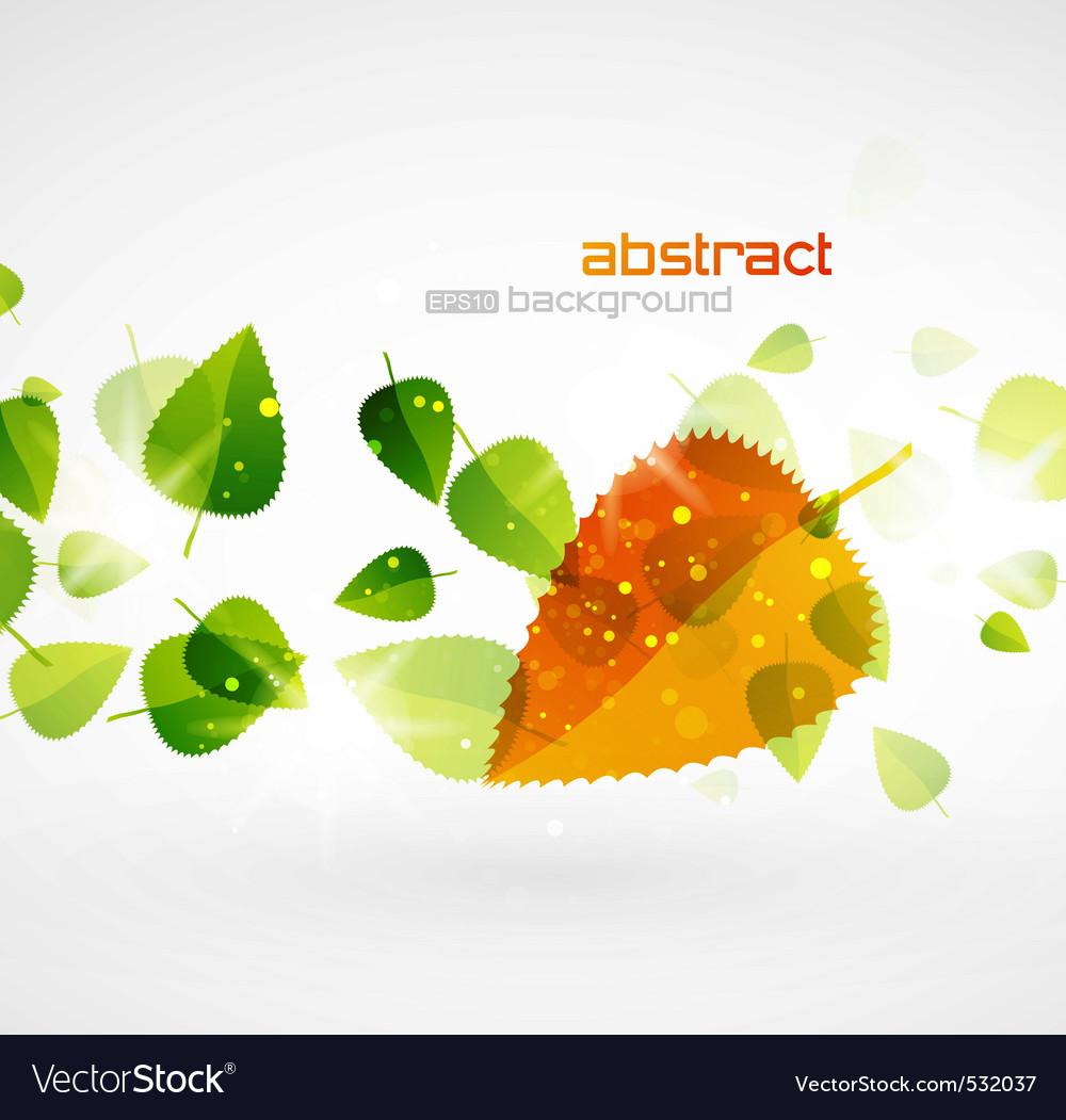 Sun leaf vector | Price: 1 Credit (USD $1)