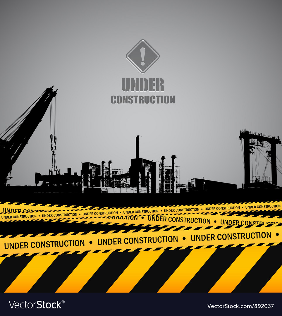 Under construction industrial template design vector | Price: 1 Credit (USD $1)
