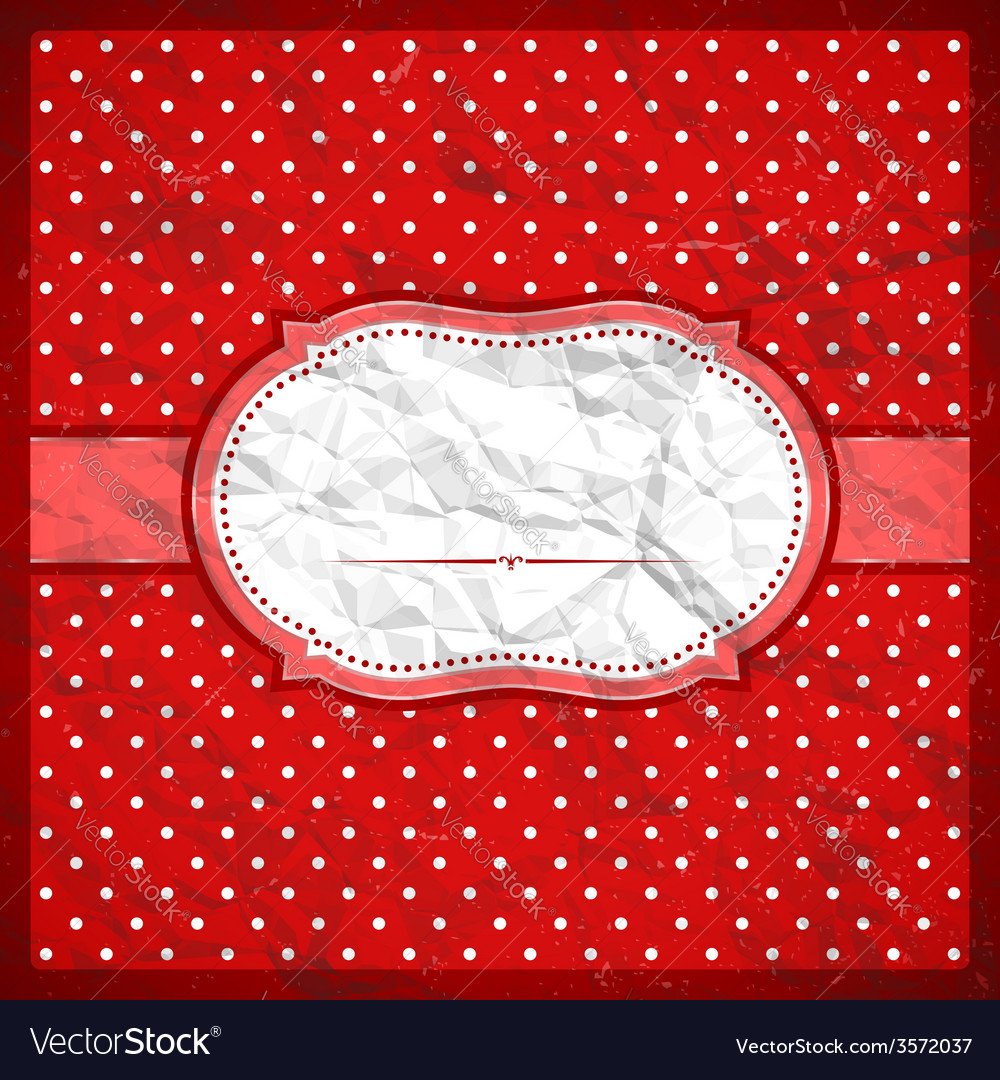 Vintage crumpled polka dot frame vector | Price: 1 Credit (USD $1)