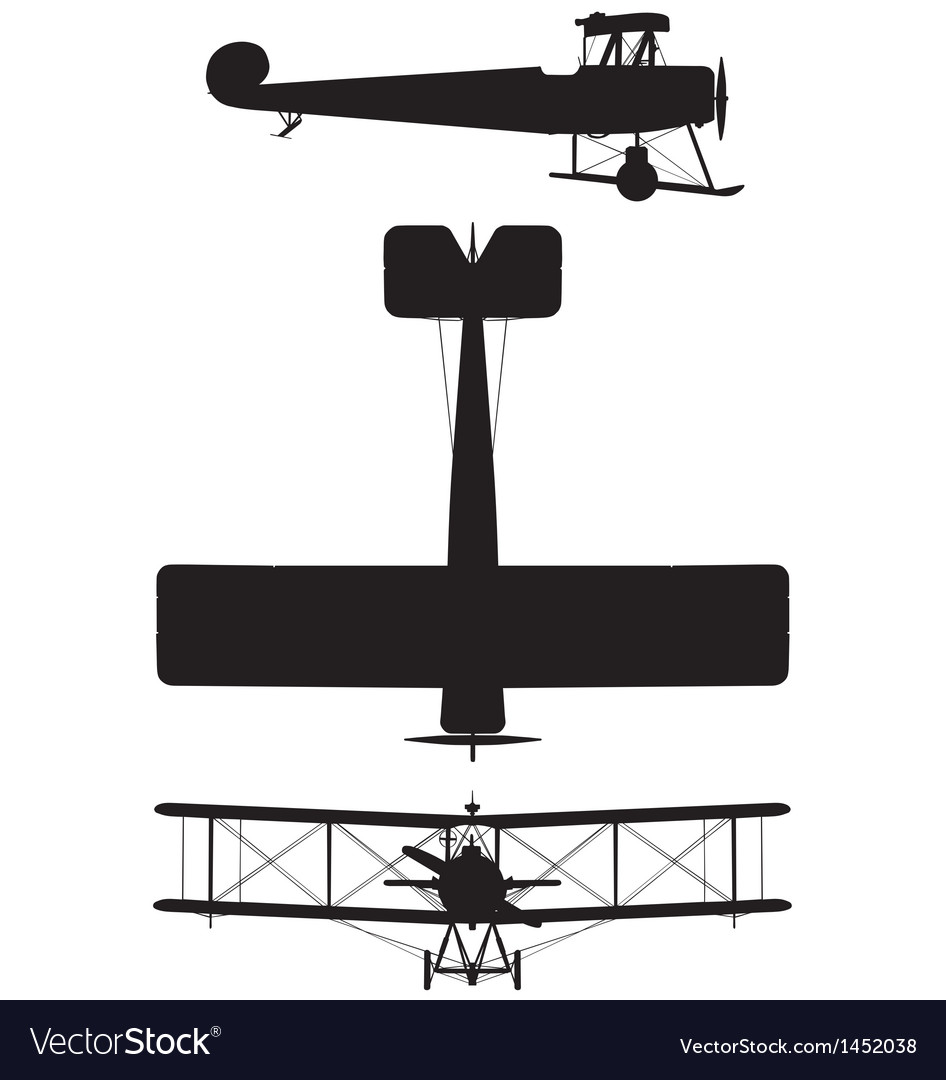 Avro 504k biplane vector | Price: 1 Credit (USD $1)