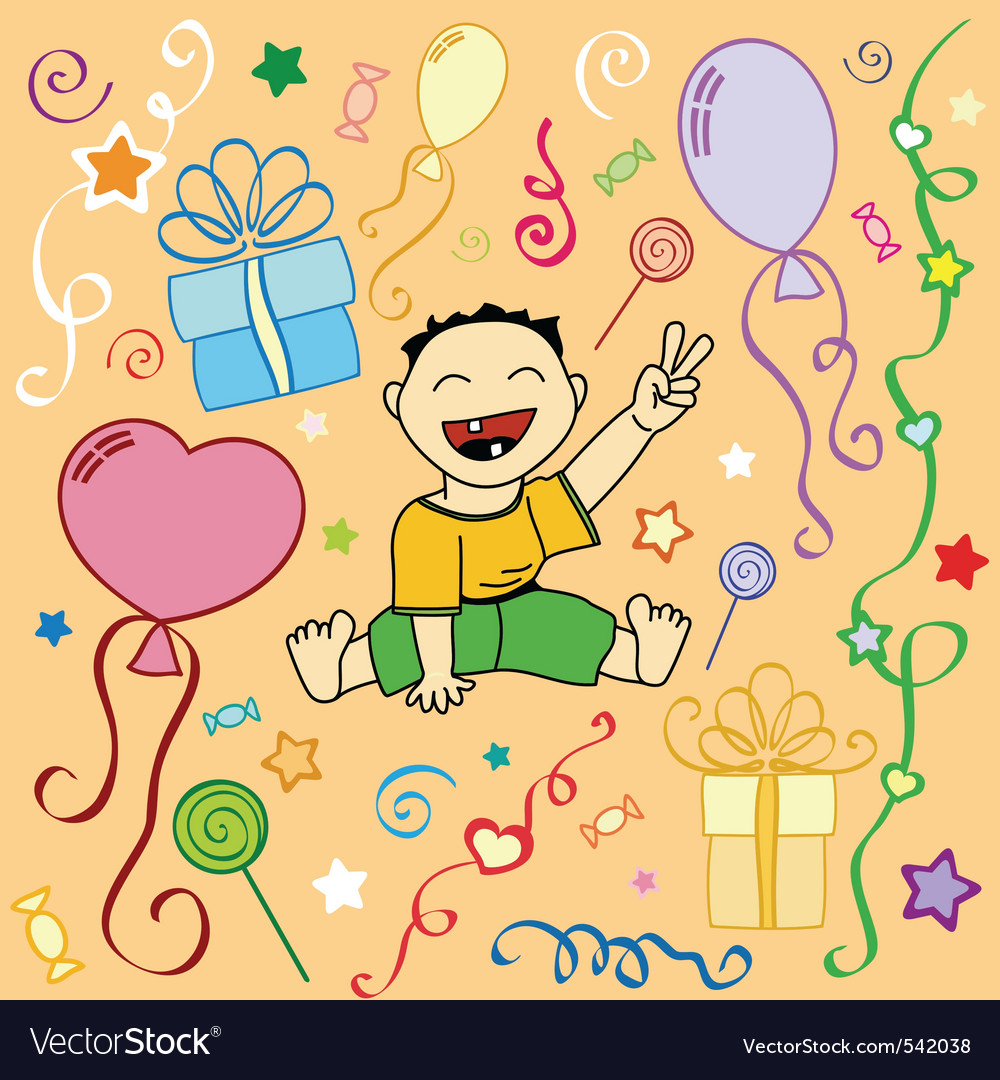 Birthday holiday texture in vector vector | Price: 1 Credit (USD $1)