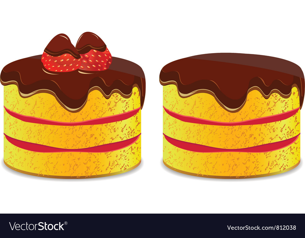 Cake icon with strawberry vector | Price: 1 Credit (USD $1)