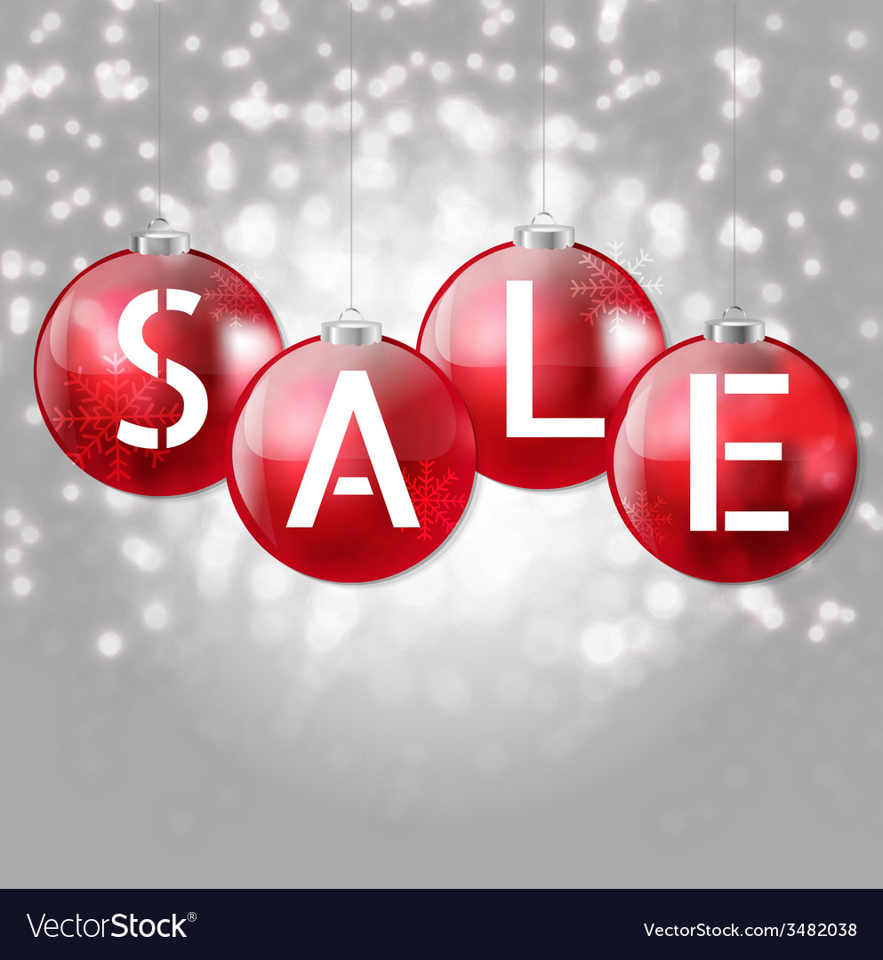 Christmas sale poster vector | Price: 1 Credit (USD $1)
