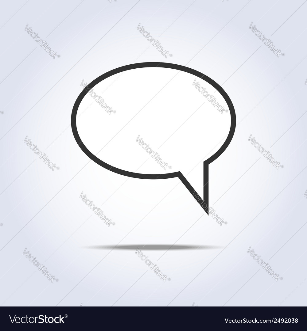Communication bubble icon vector | Price: 1 Credit (USD $1)